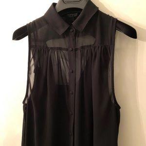 TopShop Asymmetrical-Front Dress Size 4